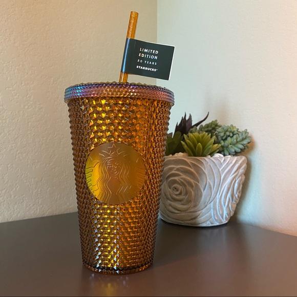 Starbucks Gold Studded 50 Yr Anniv. 16 oz Tumbler